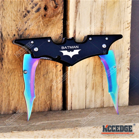 2PC MULTITOOL/CAMPING KNIFE SET Rainbow Multitool MECHANICS WRENCH KNIFE + Dark