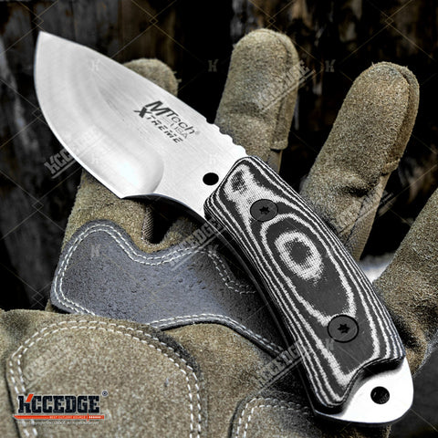 "7"" Full Tang Tactical Fixed Blade Knife w/ Kydex Sheath And Micarta Handle Scales"
