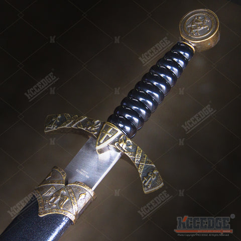 "16"" Medieval King Crusader Dagger with Stainless Steel Blade"