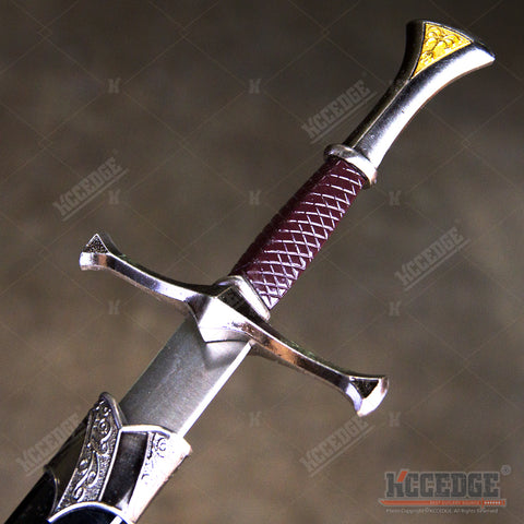"14"" Medieval Golden Triangle Dagger with Stainless Steel Blade"