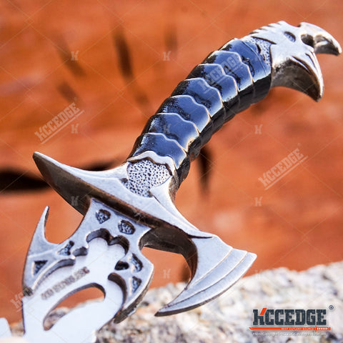 2PC FANTASY CLAW Knife Twin FIXED BLADE DAGGER Set Draco with Sheath