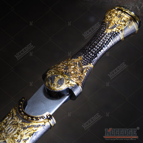 "14.5"" Egyptian Dagger Full Metal Construction with Highly Decorated Parts"