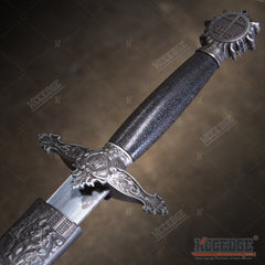 "16"" Knights Templar Medieval Dagger with Stainless Steel Blade"