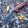 Image of 2PC TANTO Assisted Open BUCKSHOT Pocket Folding Knife + Damascus Etched CLEAVER