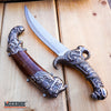 "Image of 11"" PIRATES FANTASY Dagger Skull FIXED BLADE Collectors Gift W/ Scabbard"