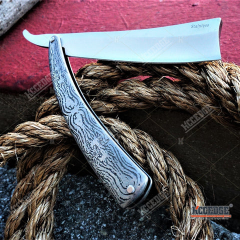 "10.5"" Sweeney Todd Straight Blade Barber Razor Pocket Knife"