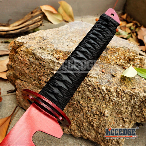 "27"" Ninja Sword Full Tang Machete Musashi Style Tsuba Technicolor TANTO Tactical"