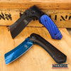 Image of 2PC BUCKSHOT SET Assisted CLEAVER Style Blade + CLEAVER Folding Pocket Knife
