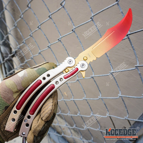 COUNTER STRIKE CSGO Practice Balisong Butterfly Trainer - Non Sharp Version