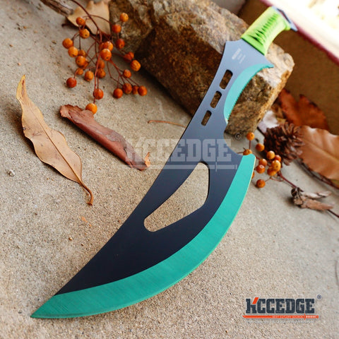 "24"" Ninja Sword Full Tang Machete Cord Wrapped Technicolor Razor Combat w/Sheath"