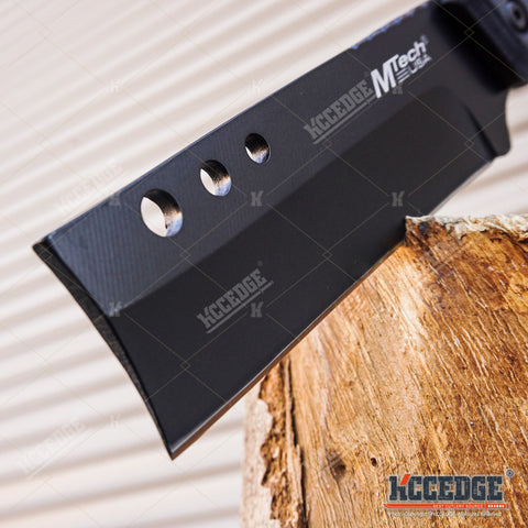 "MTECH 8"" SHAVER STYLE FIXED BLADE CLEAVER KNIFE OUTDOOR CAMPING MILITARY ARMY"