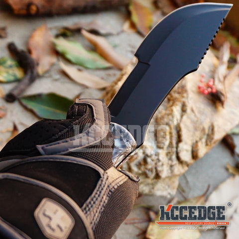 "11"" Outdoor CAMPING Fixed Blade HUNTING Knife Survival HIKING RAZOR Tracker"