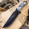 "Image of 14.75"" JUNGLE CAMO SURVIVAL Fixed Blade KNIFE w/Sheath"