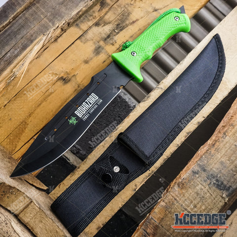 "13"" BIOHAZARD ZOMBIE JUNGLE SURVIVAL SAWBACK Fixed Blade Knife"