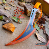 "Image of 24"" Technicolor BIOHAZARD NINJA SWORD Full Tang Machete ZOMBIE SLASHER SAW TEETH"
