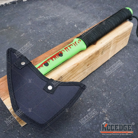 "16.5"" Survival Zombie Killer Throwing Axe with Sheath"