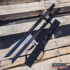 "Image of 2PC Large Full Tang 28"" Ninja Twin Tanto Blade Sword Machete w/Nylon Sheath"