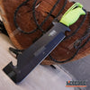 "Image of 12"" Biohazard Zombie Killer Fixed Serrated Blade w/Gut hook"