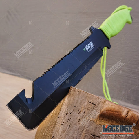 "12"" Biohazard Zombie Killer Fixed Serrated Blade w/Gut hook"