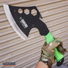 "Image of 14.5"" Zombie Survival TOMAHAWK GUT HOOK THROWING Axe Featuring HEXAGON HOLES"