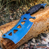 "Image of 11.5"" CAMPING HUNT SURVIVAL Wartech Fixed Blade CLEAVER Serrated Back w/ Sheath"