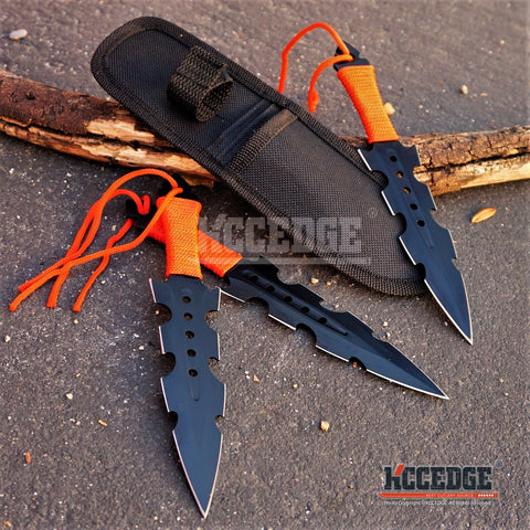 "3PC 7.5"" NINJA COMBAT Throwing Knife Set with Sheath"