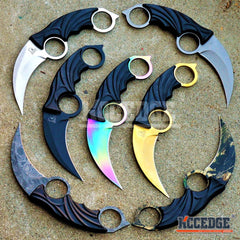 "7.75"" CSGO KARAMBIT TACTICAL Pocket Knife Survival Duty Skinning Fixed Blade"
