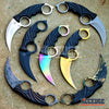 "Image of 7.75"" CSGO KARAMBIT TACTICAL Pocket Knife Survival Duty Skinning Fixed Blade"