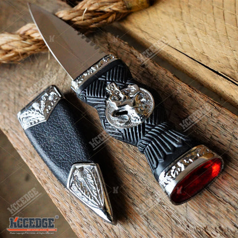 "7.25"" Lion Sgaindubh Dirk Collectible Medieval Dagger with Scabbard"