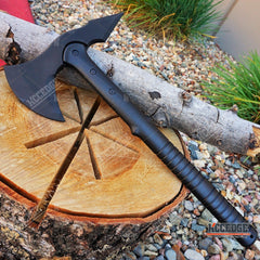 "15.5"" Rubber Training Axe w/ Fiberglass handle"