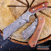 "Image of 2PC Cleaver Combo 8.75"" FIXED CLEAVER + 8"" SHAVER STYLE Cleaver Pocket Knife"