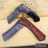 "Image of 2PC BUCKSHOT COMBO 8"" CLEAVER STYLE POCKET KNIFE + 6.5"" MINI CLEAVER POCKET KNIF"