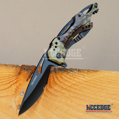 "8"" 3MM Assisted Open EDC RAZOR POCKET KNIFE w/ Bottle Opener"