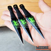 "Image of 3PC 5.5"" KUNAI ZOMBIE Green Splatter Throwing Knife Set w/Sheath"