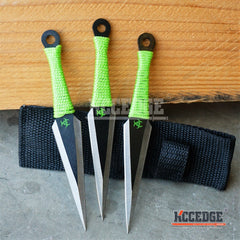 "3PC 5.5"" Zombie Biohazard GEAR Kunai Throwing Knife Set w/Sheath"