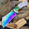 Image of CAMPING HUNTING Assisted Open Pocket Folding Knife BUCKSHOT CLEAVER RAZOR Blade