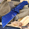 Image of 3PC BLUE SET Folding KARAMBIT + Fixed CSGO Karambit + CLEAVER Pocket Knife