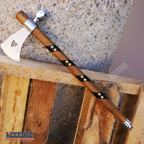"19"" NATIVE AMERICAN PEACE PIPE TOMAHAWK AXE Replica w/ Functional Pipe"