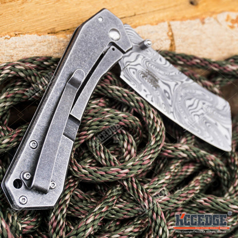 "8"" Classic Assisted Open Folding CLEAVER Pocket Knife"