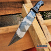 "Image of 3 Colors 13.5"" WARTECH RAMBO KNIFE Tactical Combat Bowie Fixed Blade w/ Backside Serrated TANTO BLADE + Sheath"