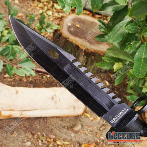 "12.75"" M9 BAYONET SURVIVAL Knife + Scabbard w/ Wire Cutter & Sharpening Stone"