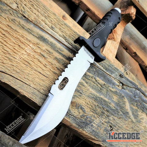 "10 5/8"" CSGO BOWIE KNIFE Fixed Blade 2 Colors Huntsmen Survival Jungle Knife w/ Glass Breaker & Sheath"