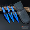 "Image of 3PC 6.5"" Technicolor Zombie Throwing Knife Set w/ Sheath Ninja Kunai Survival"