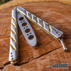 "Image of DULL 9.25"" CS GO Butterfly Knife Balisong Trainer Practice Tool Stainless Steel"