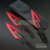 "Image of 3PC 6.5"" Biohazard Technicolor High Impact Survival Throwing Knife Set w/Sheath"
