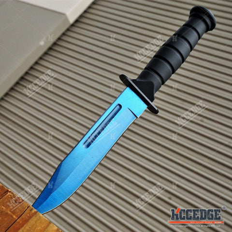 "7.5"" MINI Military Combat Survival Outdoor Jungle Rescue Fixed Blade EDC Knife w/ Nylon Sheath"