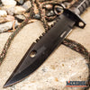 "Image of 12.5"" SWAT TEAM CS GO Tactical Fixed Blade Hunting Bayonet Bowie Military Combat Knife"