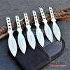 "Image of 6PC 5.5"" Thunder Bolt Throwing Knife Ninja Kunai w/ Arm Sheath Pouch"