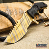 Image of 5PC COMBO GOLD SET Throwing AXE KARAMBIT BOWIE HUNTING CLEAVER BUTTERFLY TRAINER