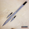 "Image of 27"" DAMASCUS ETCHED Full Tang Katana Sword w/ 2 Throwing Knives"